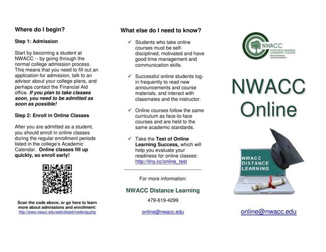 NWACC Online Brochure