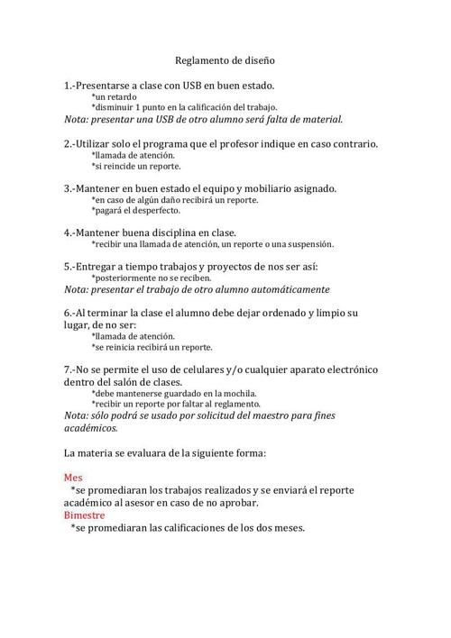 Reglamento diseño