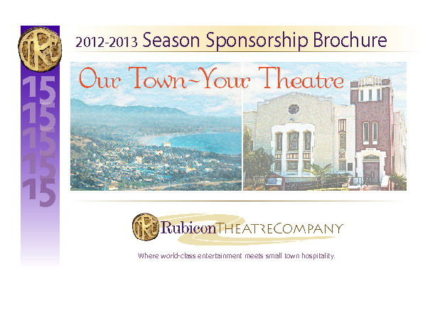 Rubicon 2012-2013 Season Sponsorship Brochure