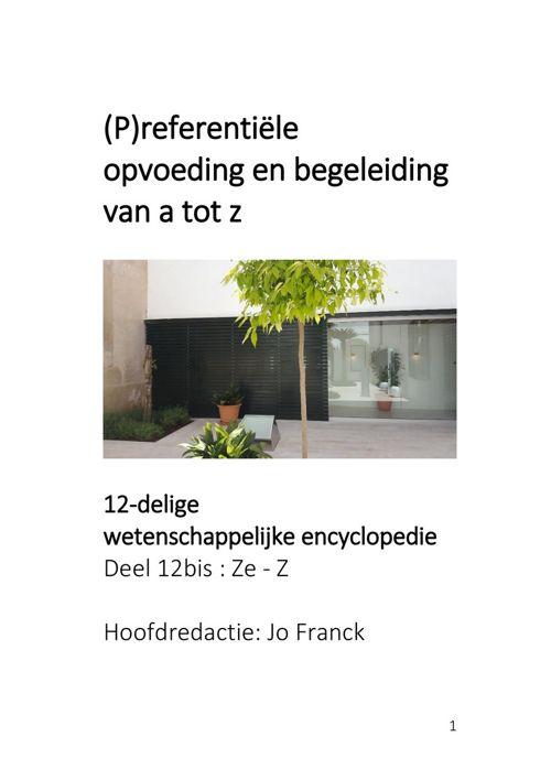 referentiële opvoeding en begeleiding - Deel 12 bis Ze - Z