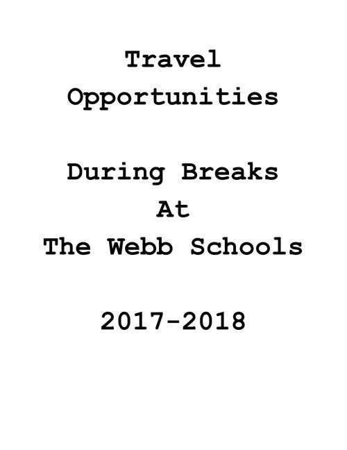 Travel Opportunities 17-18