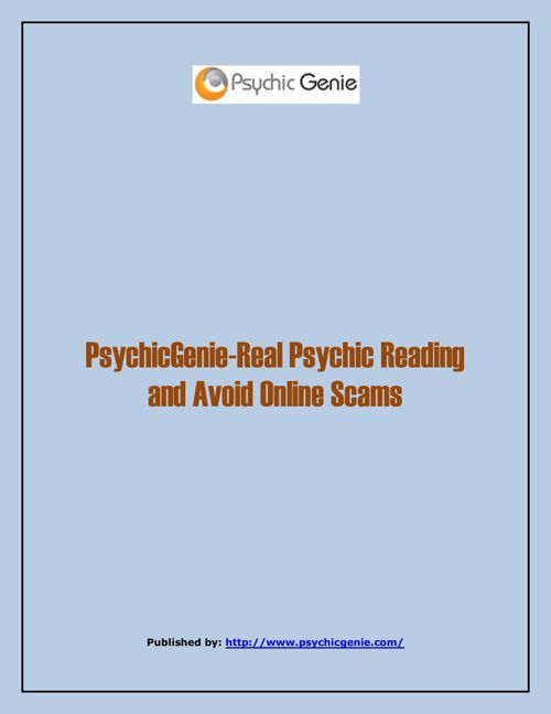 PsychicGenie-Real Psychic Reading And Avoid Online Scams