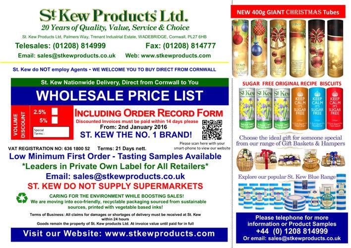 Wholesale Price List