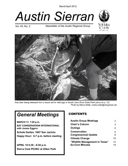 Austin Sierra Club Newsletter March/April 2012