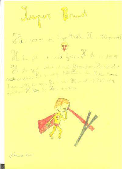 Superheroes!  6ème1