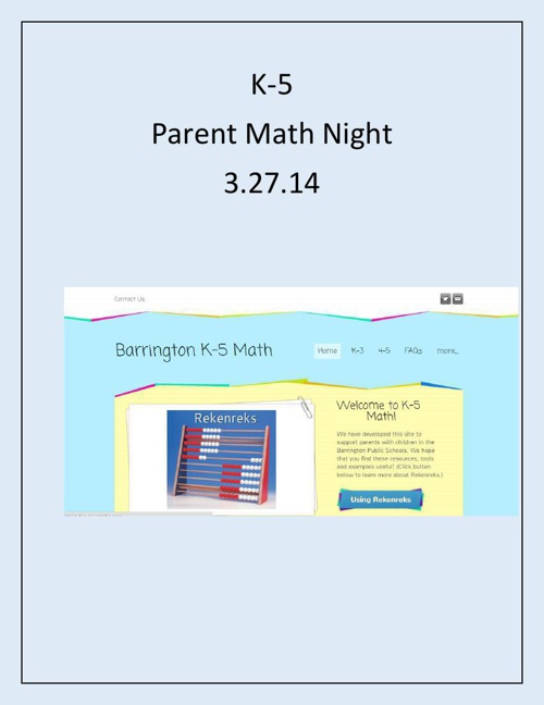 math night news