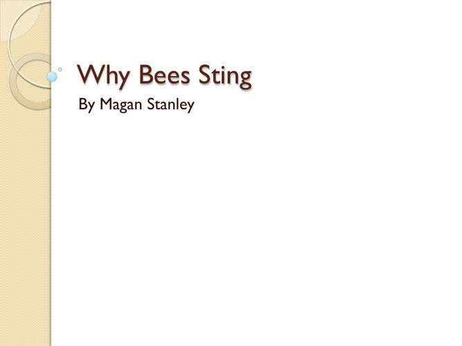 Why Bees Sting