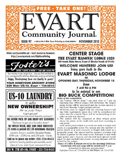 Nov. 2012 Evart Journal