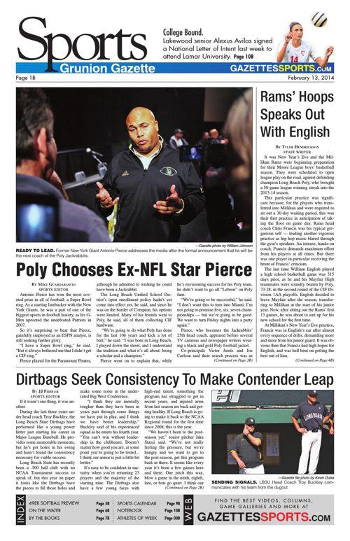 Gazette Sports   February 13, 2014