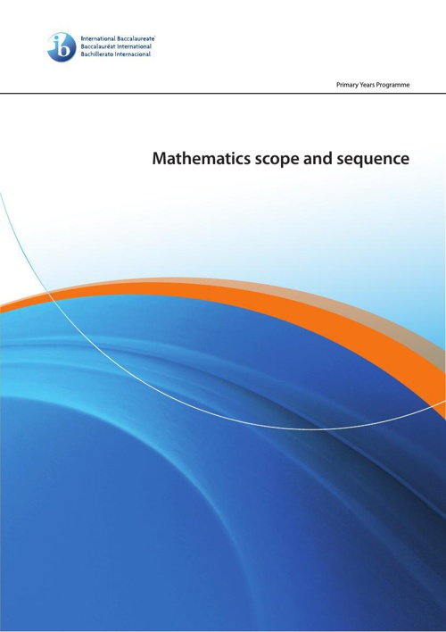 scope and sequence math