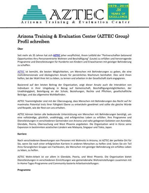 Arizona Training & Evaluation Center (AZTEC Group)