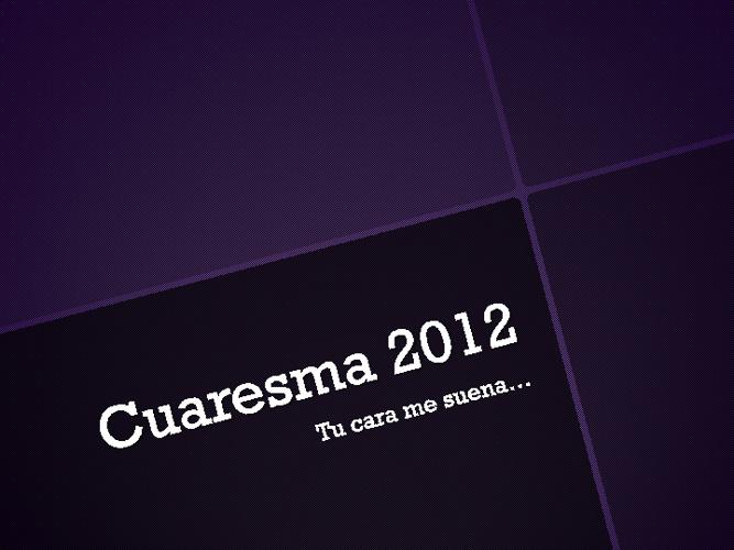 CUARESMA 1
