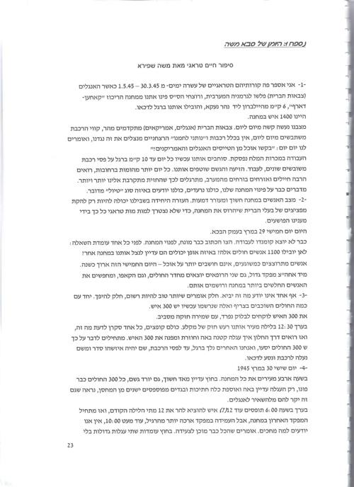 יומן של סבא משה על הימים האחרונים שלו בשואה