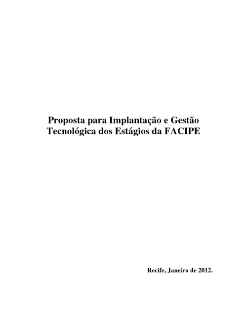 Proposta Prof. Fábio Guimarães