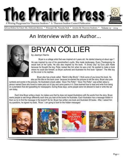 Prairie Press Newspaper vol 15