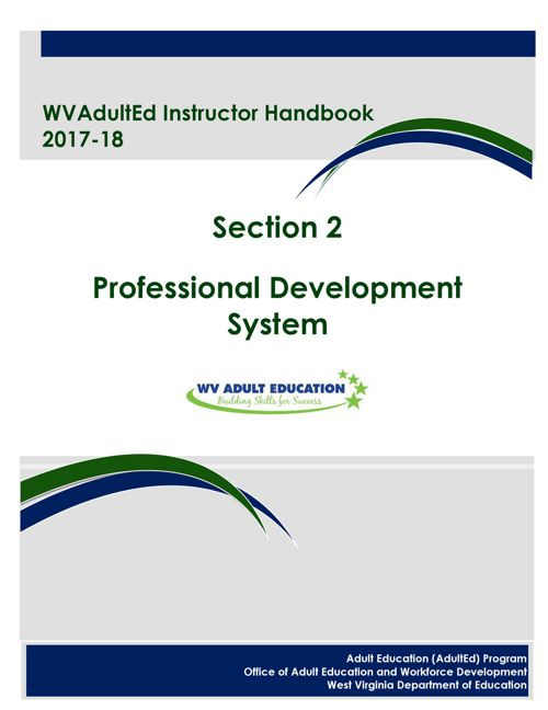 WVAdultEd Instructor Handbook 2015 - 2016 Section 2