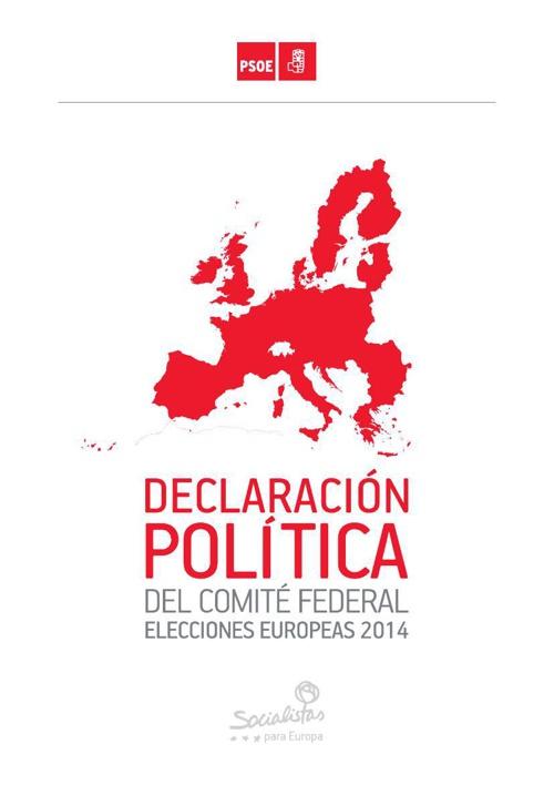 Manifiesto socialista de las europeas