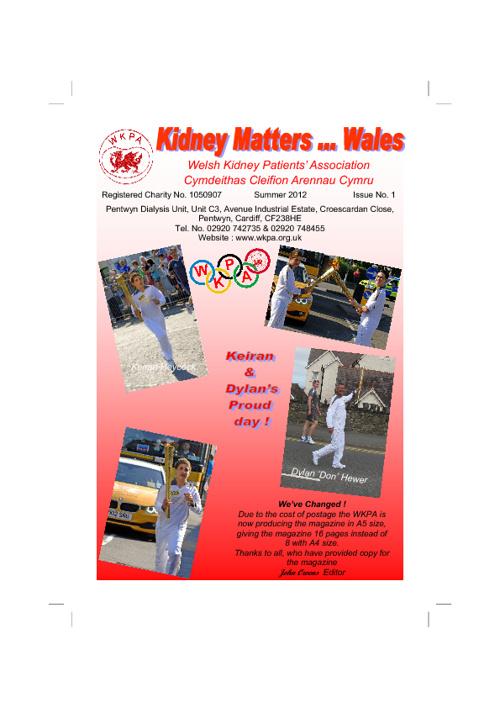 Kidney Matters ...Wales  Summer 2012