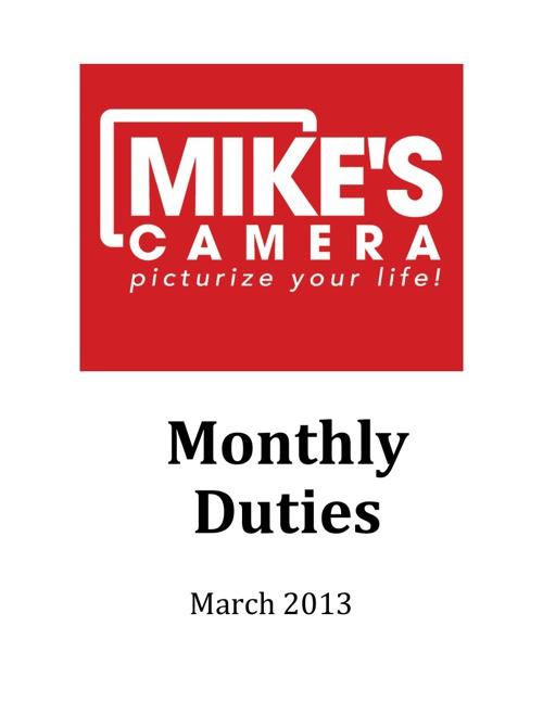 The Monthly Duties Notebook