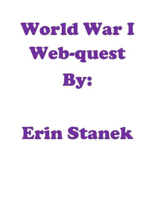 World War I Webquest