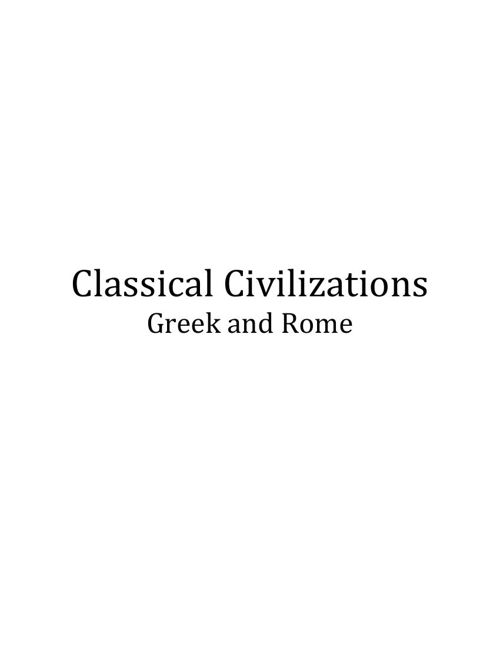 Edited Classical Civilizations