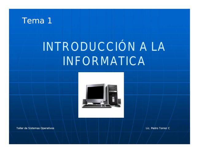 Tema 1 Introducción a los Sistemas Operativos