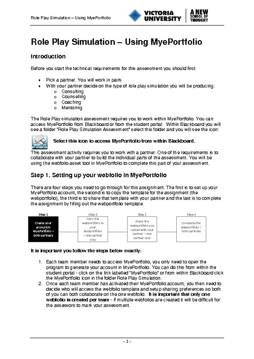 PebblePad Counselling Instructions