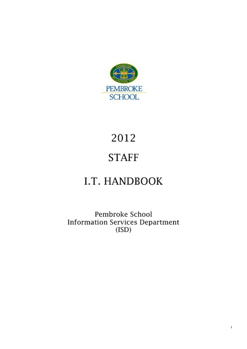 Pembroke Staff IT Handbook 2