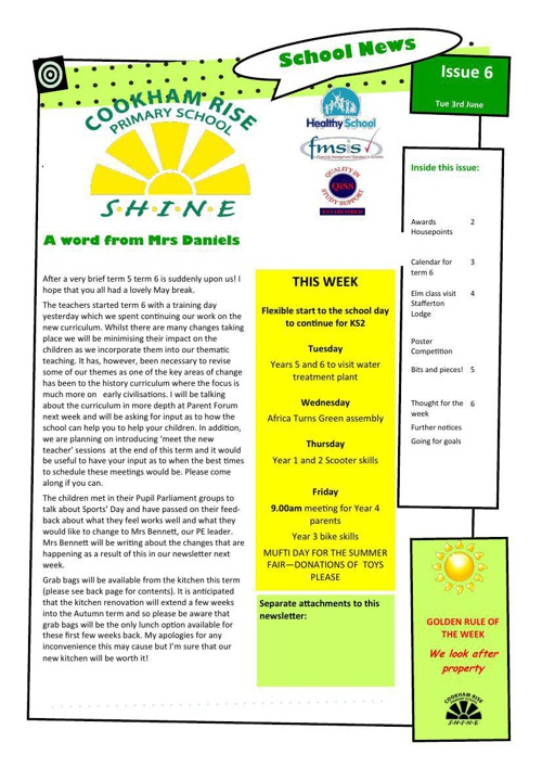 Newsletter 3rd June 2014