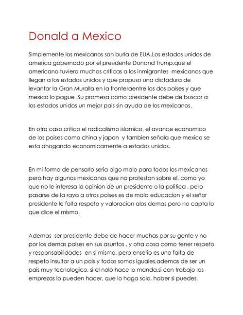 Donald a Mexico