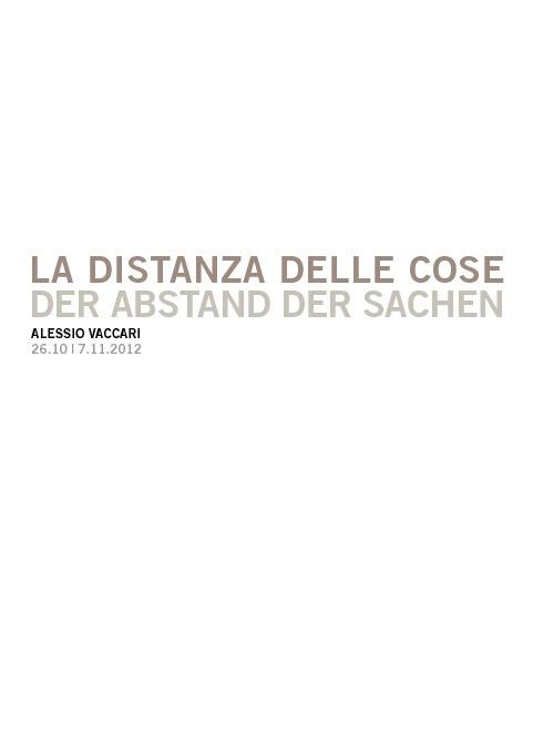La Distanza dele cose - Alessio Vaccari