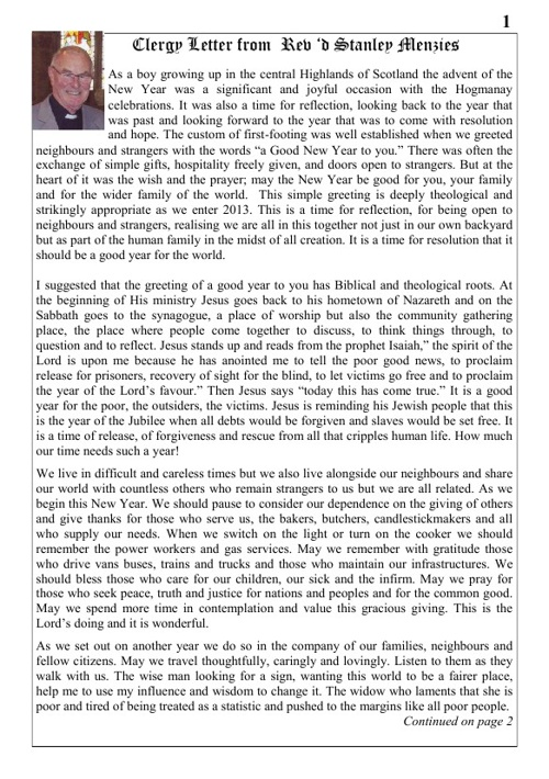 Parish Magazine Jan 2013