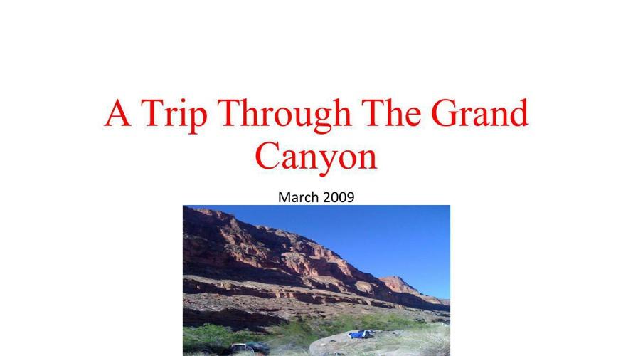 A Trip Through The Grand Canyon