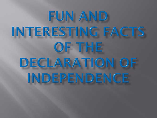 The Declaration of Independence by Zachery