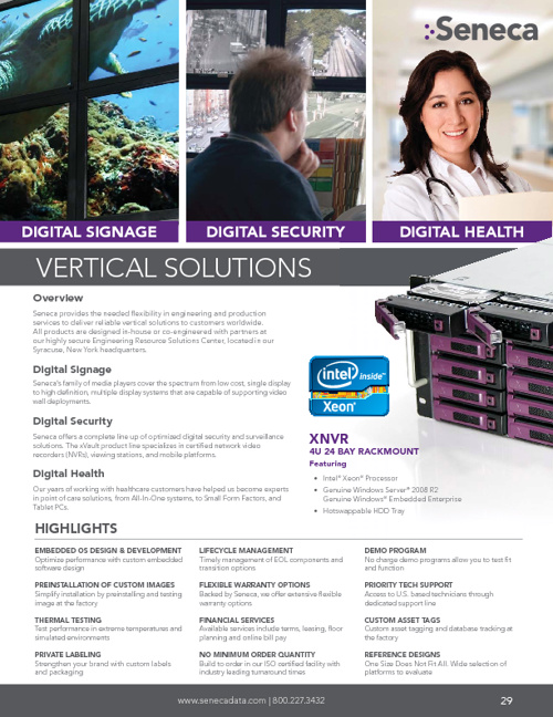 Seneca OEM 2H-2012 Product Catalog