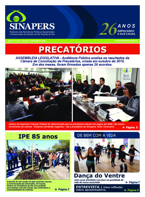 SINAPERS - Ano 11 | Nº63 Agosto 2016