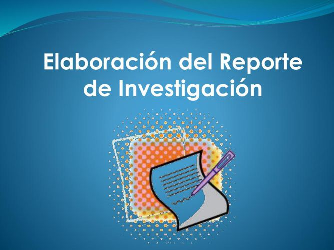 Reporte de investigacion