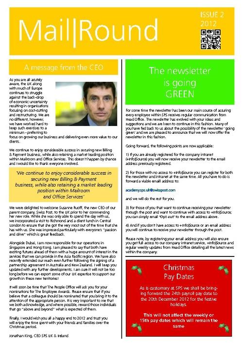SPS Newsletter Issue 2, 2012