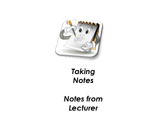 Taking Notes from Lecturer