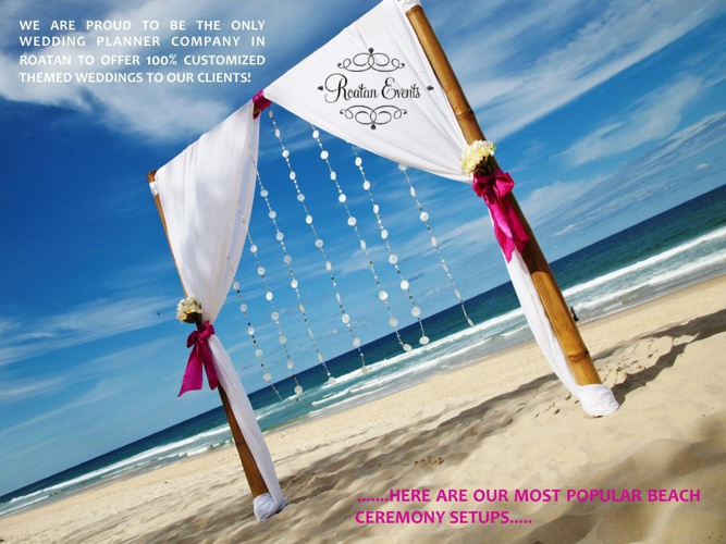 Roatan Events BEACH WEDDING DESIGNS 2014
