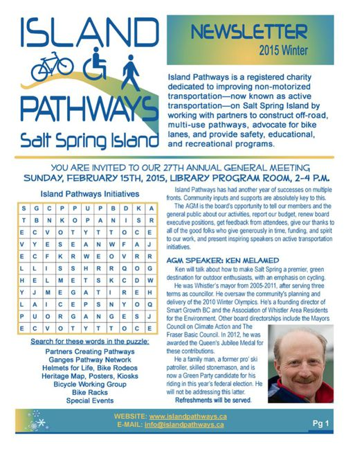 Island Pathways 2015 Winter Newsletter