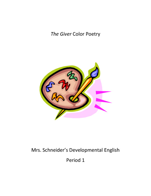 The Giver Color Poetry 2012