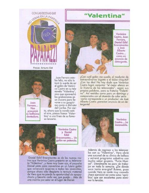 Nota de la revista Tele Guía