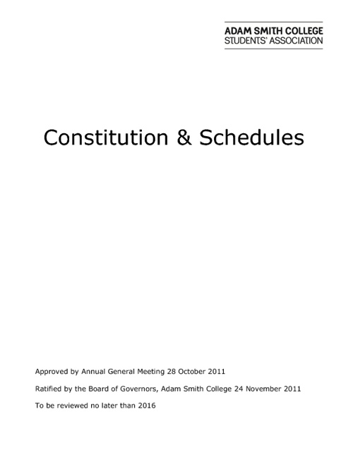 ASCSA Constitution & Schedules