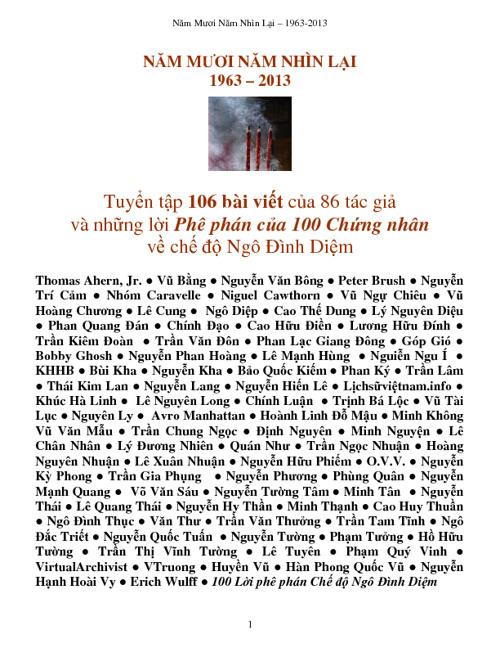 50 Năm Nhìn Lại - 1of5 - Dẫn Nhập, Mục Lục, Chương 1,2,3