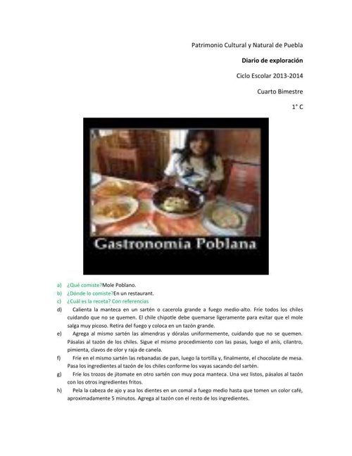 Diario de exploración 4 bimestre