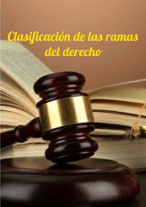 Clasificación de las ramas del derecho