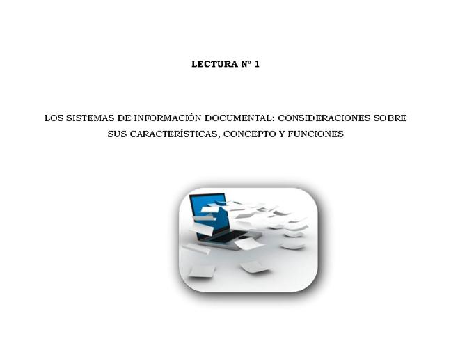 Lectura Nº1: Los sistemas de información documental...