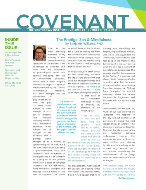 Covenant Fall 2015