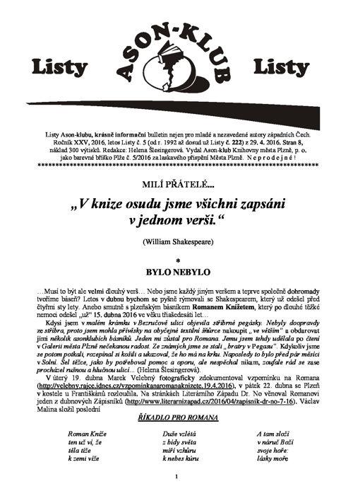 Listy Ason-klubu 5/20165